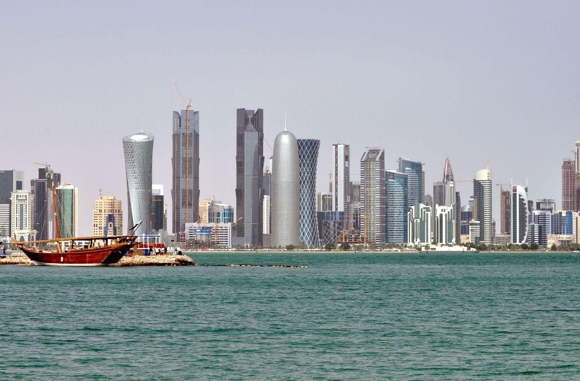 doha-qatar-skyscrapers-dhow